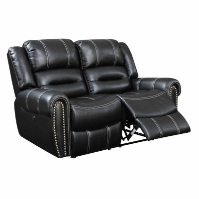 Bismarck Contemporary Roll-Arm Power Recline Loveseat