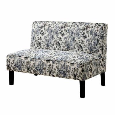 Cassidy Contemporary Fabric Settee