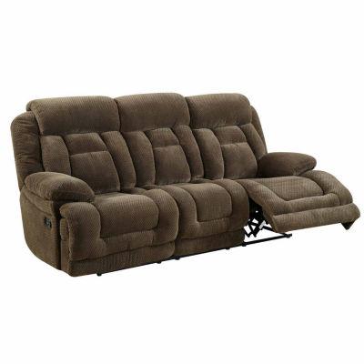 Haney Transitional Fabric Pad-Arm Reclining Sofa