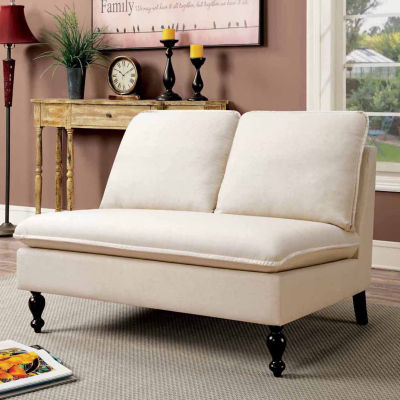 Paullette Contemporary Fabric Settee