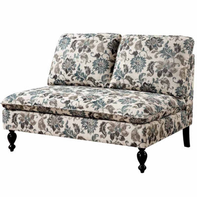 Paulette Contemporary Fabric Settee