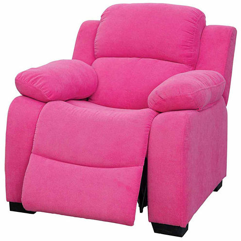 Daniels Kids Fabric Pad-Arm Recliner