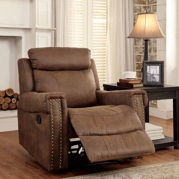 Aleppo Transitional Nailhead Trim Fabric Club Chair