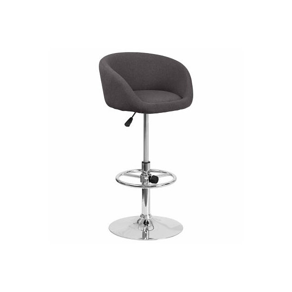 Fabric Adjustable Bar Stool