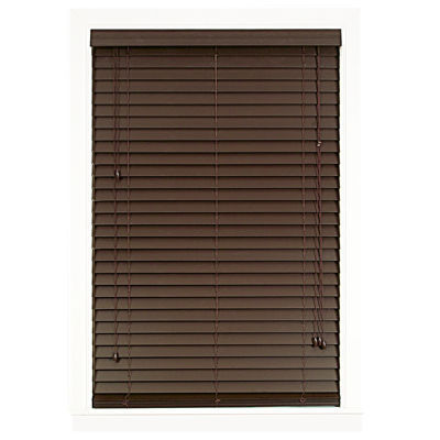"Madera Falsa 2"" Faux Wood Horizontal Plantation Blinds"