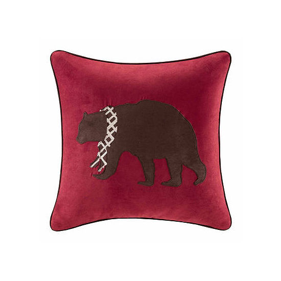 Madison Park Bear Square Throw Pillow