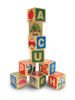 Melissa & Doug  ABC - 123 Wooden Blocks