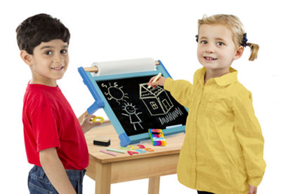 Melissa & Doug® Double-Sided Magnetic Tabletop Easel