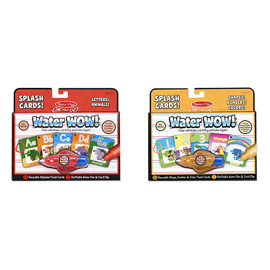 Melissa & Doug Water Wow! - Splash Cards Bundle - Alphabet and Numbers & Colors