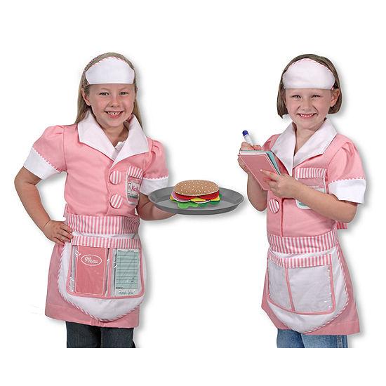 Melissa & Doug Waitress Role Play Unisex Costume