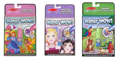 Melissa & Doug Water Wow! - Bundle - Makeup & Manicures, Fairy Tale and Animals