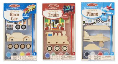 Melissa & Doug DYO Plane, Train & Race Car Bundle