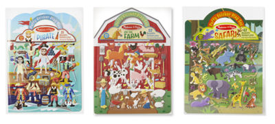 Melissa & Doug Puffy Sticker Bundle - Pirate, Safari and Farm