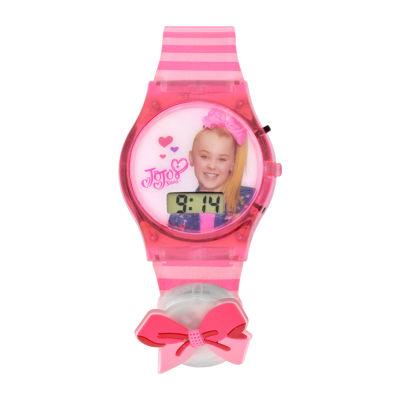 Nickelodeon Jojo Siwa Girls Pink Strap Watch-Joj4001jc