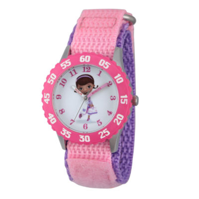 Disney Doc McStuffins Girls Pink Strap Watch-Wds000306