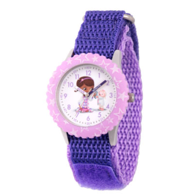 Disney Doc McStuffins Girls Purple Strap Watch-Wds000307