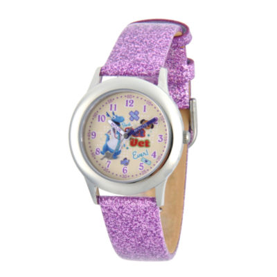 Disney Doc McStuffins Girls Purple Strap Watch-Wds000308