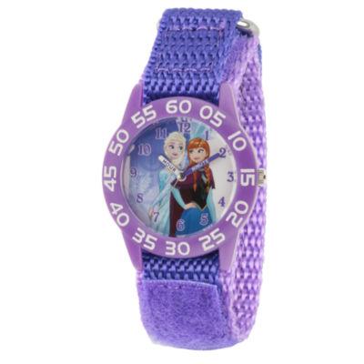 Disney Frozen Girls Purple Strap Watch-Wds000319