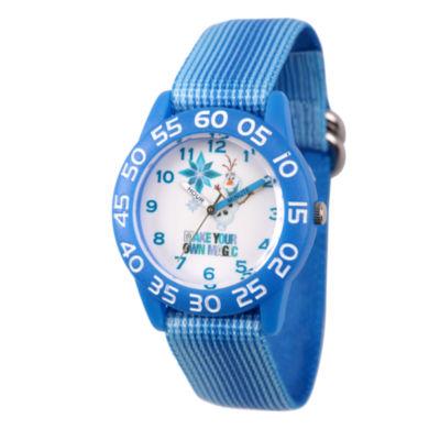Disney Frozen Girls Blue Strap Watch-Wds000320