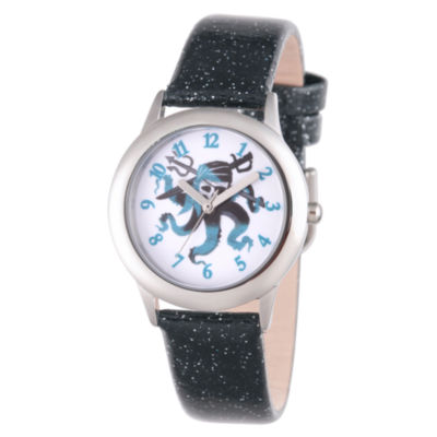 Disney Descendants Boys Black Strap Watch-Wds000366