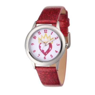 Disney Descendants Girls Red Strap Watch-Wds000367