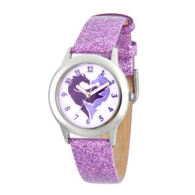 Disney Descendants Girls Purple Strap Watch-Wds000368