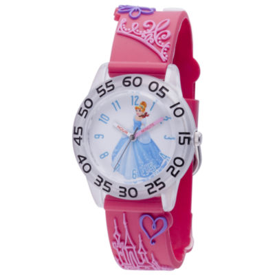 Disney Princess & The Frog Girls Pink Strap Watch-Wds000397