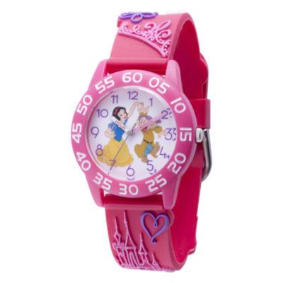 Disney Princess & The Frog Girls Pink Strap Watch-Wds000398