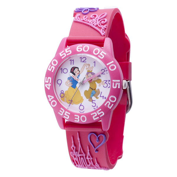 Disney Princess & The Frog Girls Pink Strap Watch-Wds000398