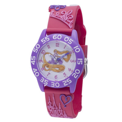 Disney Princess & The Frog Girls Pink Strap Watch-Wds000399