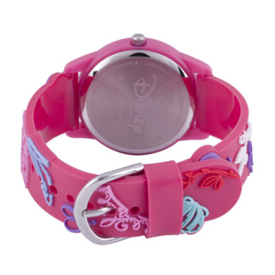Disney Princess & The Frog Girls Pink Strap Watch-Wds000400