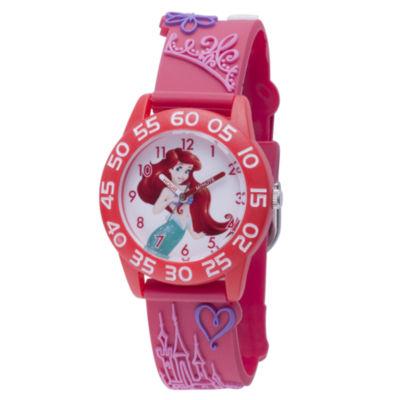 Disney Princess & The Frog Girls Pink Strap Watch-Wds000401