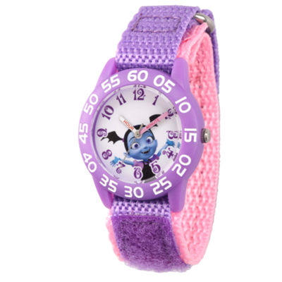 Disney Girls Purple Strap Watch-Wds000413