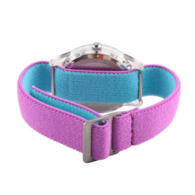 Disney Girls Purple Strap Watch-Wds000415
