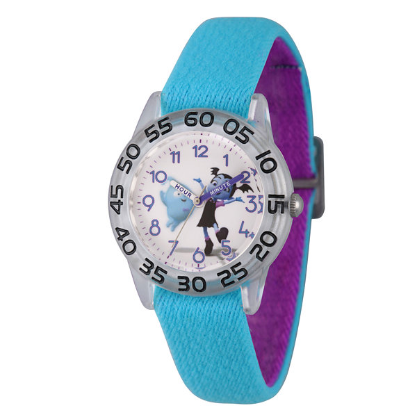 Disney Girls Blue Strap Watch-Wds000417
