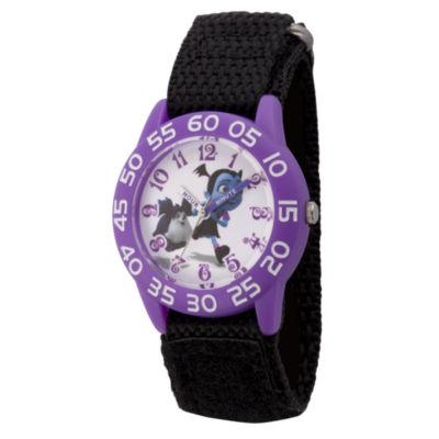 Disney Girls Black Strap Watch-Wds000418