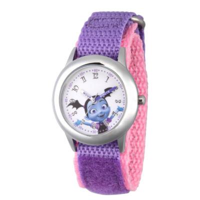 Disney Girls Purple Strap Watch-Wds000421