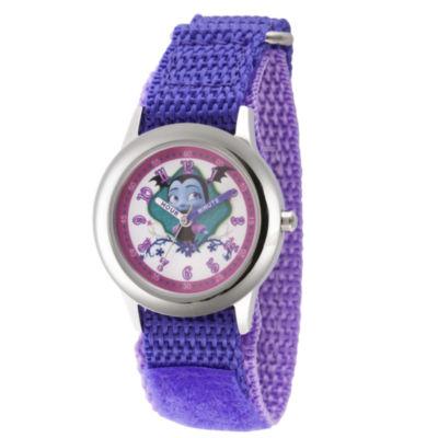 Disney Girls Purple Strap Watch-Wds000422