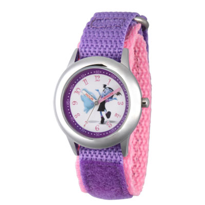 Disney Girls Purple Strap Watch-Wds000424