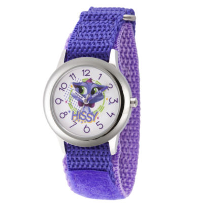 Disney Girls Purple Strap Watch-Wds000435