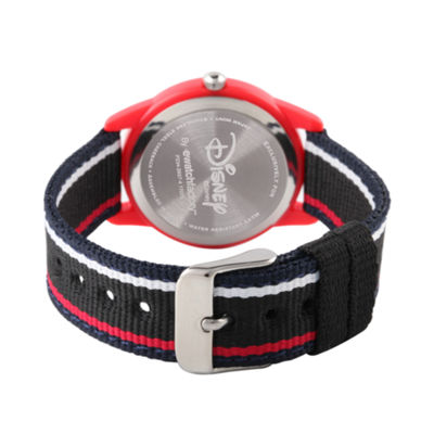 Disney Cars Boys Black Strap Watch-Wds000440