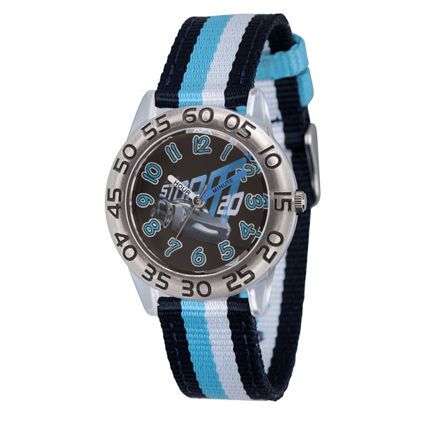 Disney Cars Boys Blue Strap Watch-Wds000442