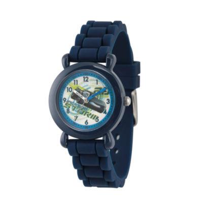 Disney Cars Boys Blue Strap Watch-Wds000445