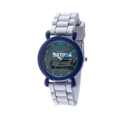 Disney Cars Boys Gray Strap Watch-Wds000450
