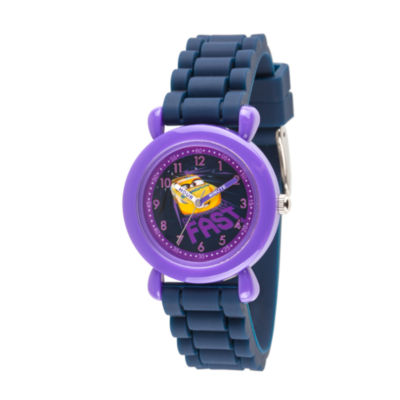 Disney Cars Boys Blue Strap Watch-Wds000451
