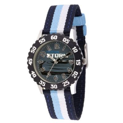 Disney Cars Boys Blue Strap Watch-Wds000455