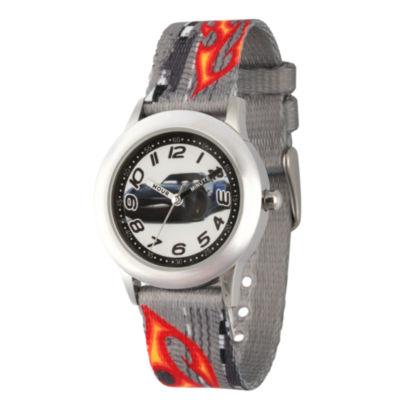 Disney Cars Boys Gray Strap Watch-Wds000456