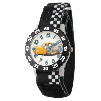 Disney Cars Boys Black Strap Watch-Wds000457