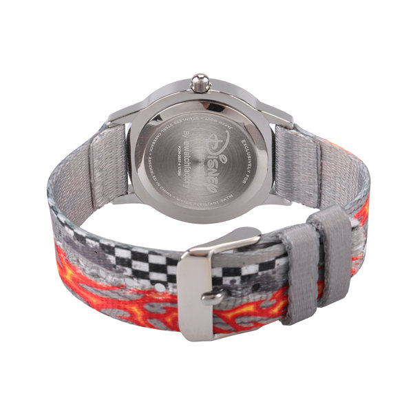 Disney Cars Boys Gray Strap Watch-Wds000460