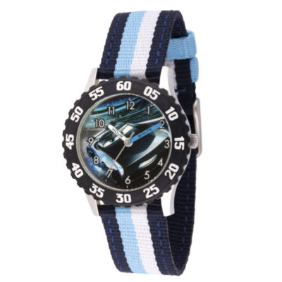 Disney Cars Boys Blue Strap Watch-Wds000461
